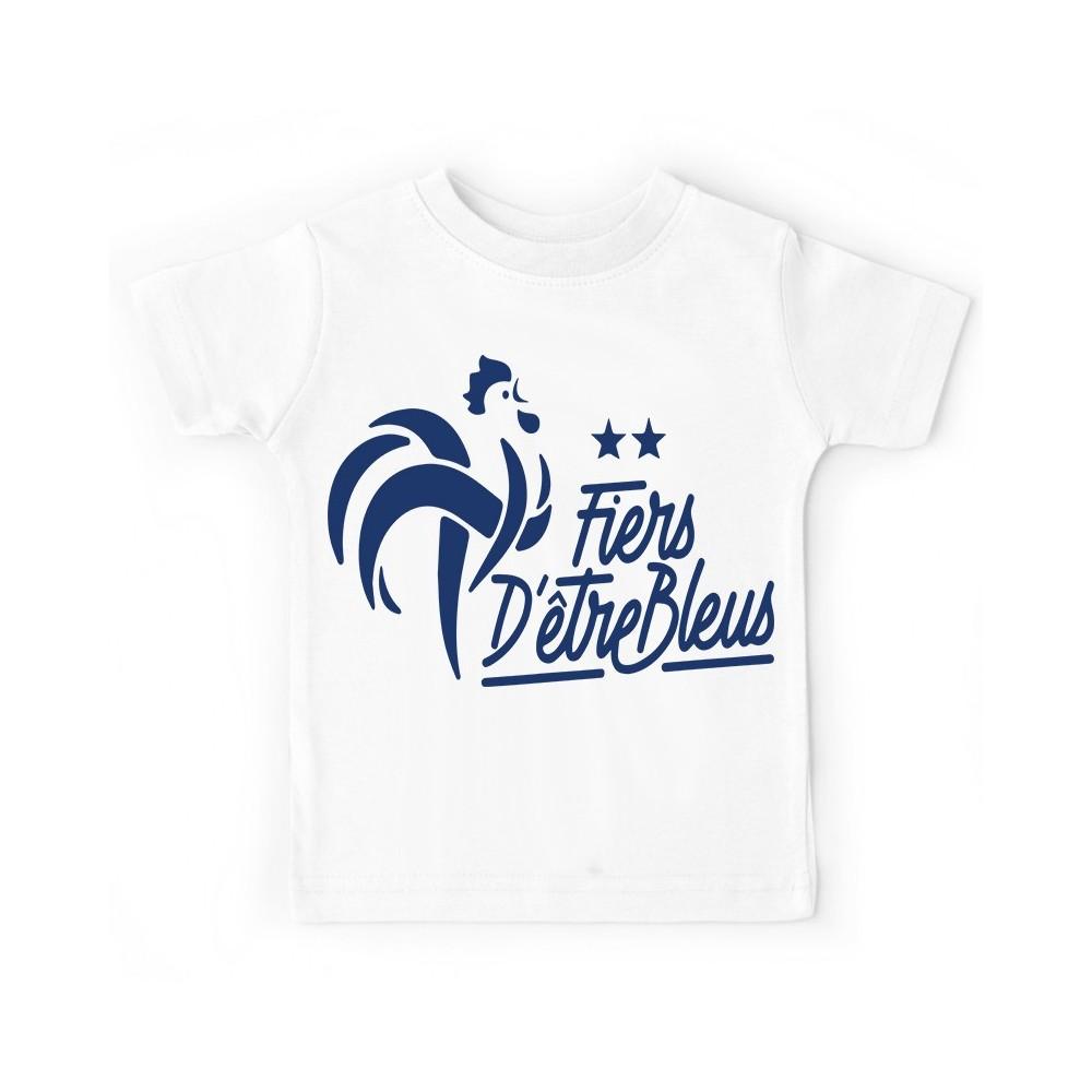 T-shirt enfant - Fier d'être français - 2 étoiles