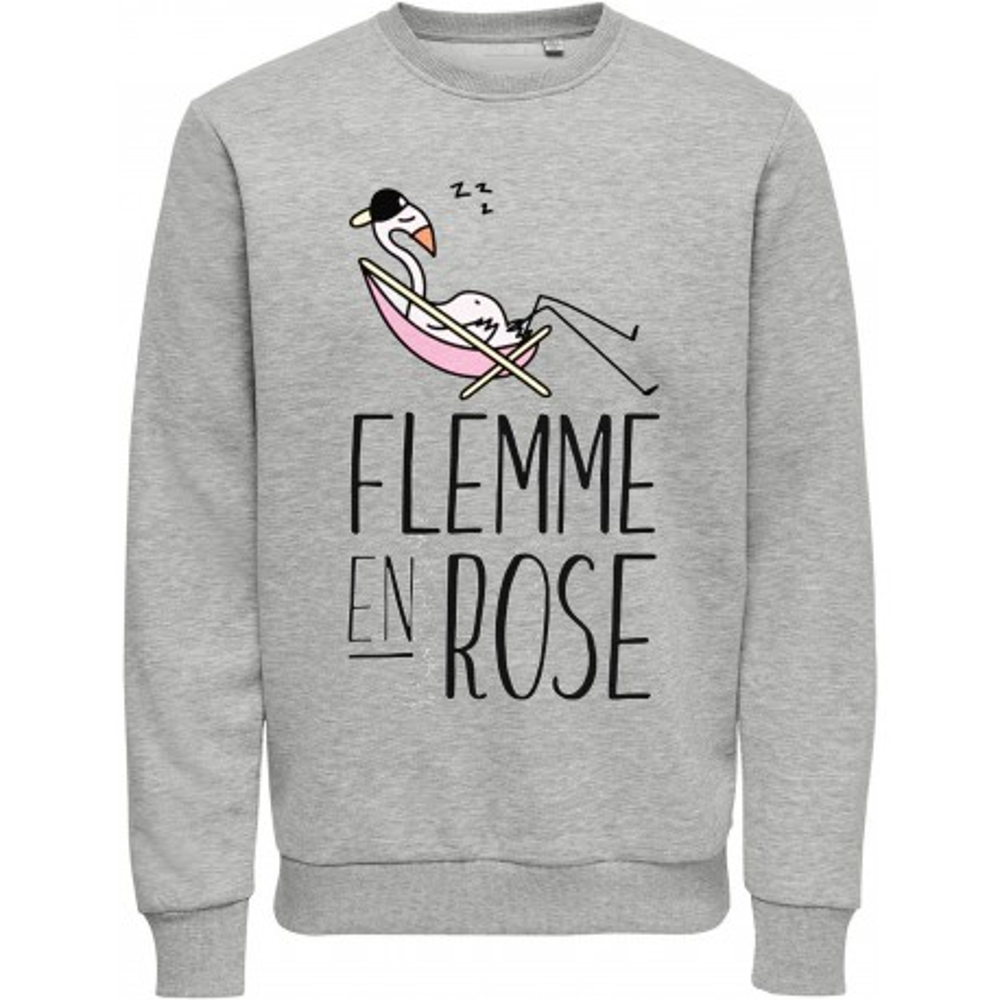Sweat-shirt du S au XXL , 80% coton imprimé humour - flemme....