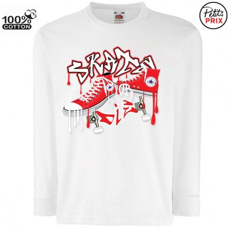 T-shirt garçon ML - Skate or die