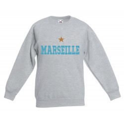 Sweat-shirt enfant molletonné 80% coton - Marseille