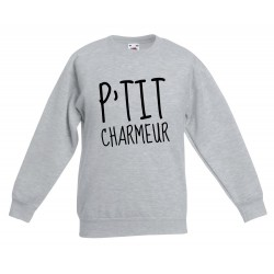 Sweat-shirt enfant molletonné 80% coton - P'tit charmeur