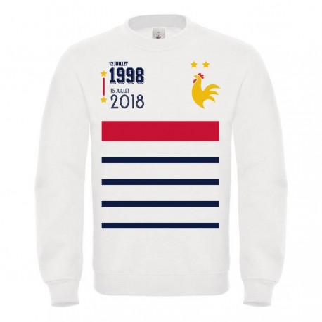 Sweat-shirt enfant molletonné 80% coton - Champion du monde france
