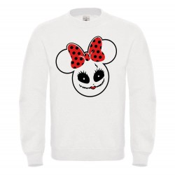 Sweat-shirt enfant molletonné 80% coton - mickey halloween