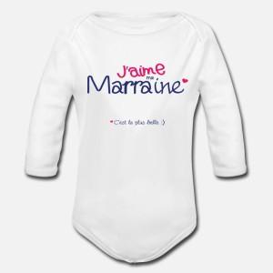 BODY BÉBÉ MIXTE MANCHES LONGUE - J AIME MA MARRAINE