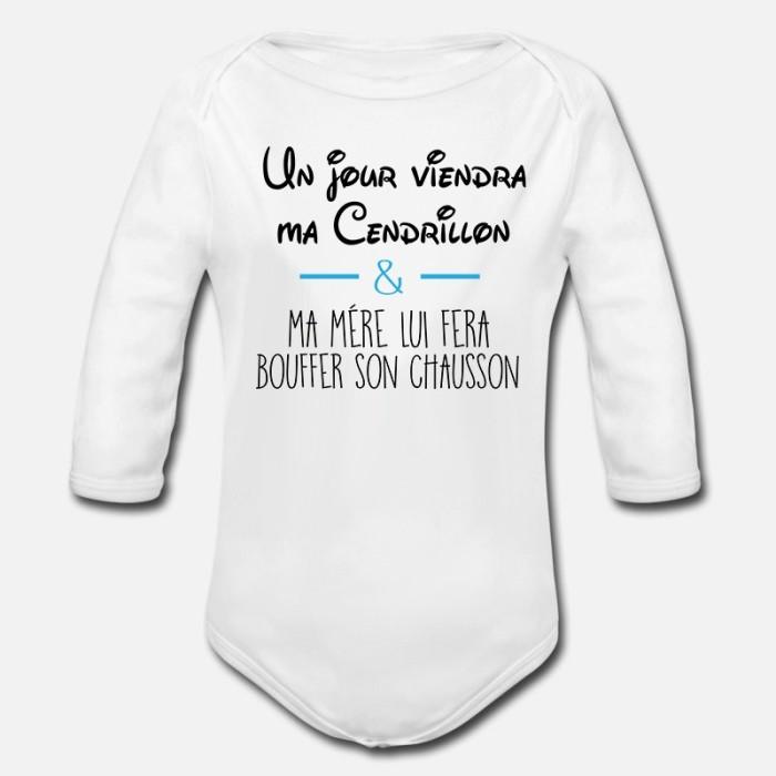 BODY BÉBÉ MIXTE MANCHES LONGUE - UN JOUR MA CENDRILLON...
