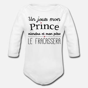 BODY BÉBÉ MIXTE MANCHES LONGUE - UN JOUR MON PRINCE ....