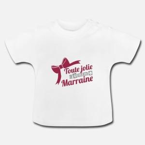 LAYETTE MANCHES COURTE UNI -  TOUTE JOLIE COMME MARRAINE