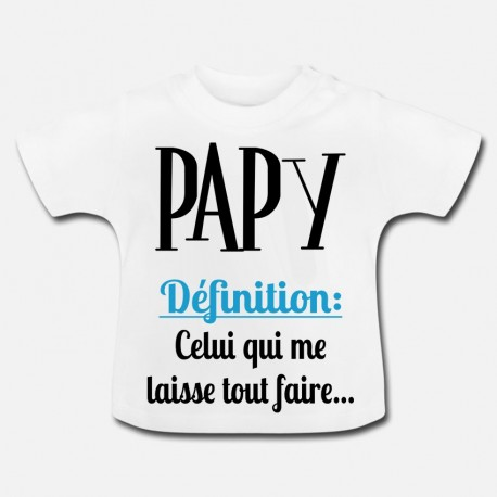 LAYETTE MANCHES COURTE UNI -  PAPY DEFINITION