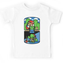 T-shirt enfant du 2 ans au 8 ans - IMG Mario bross jeux video