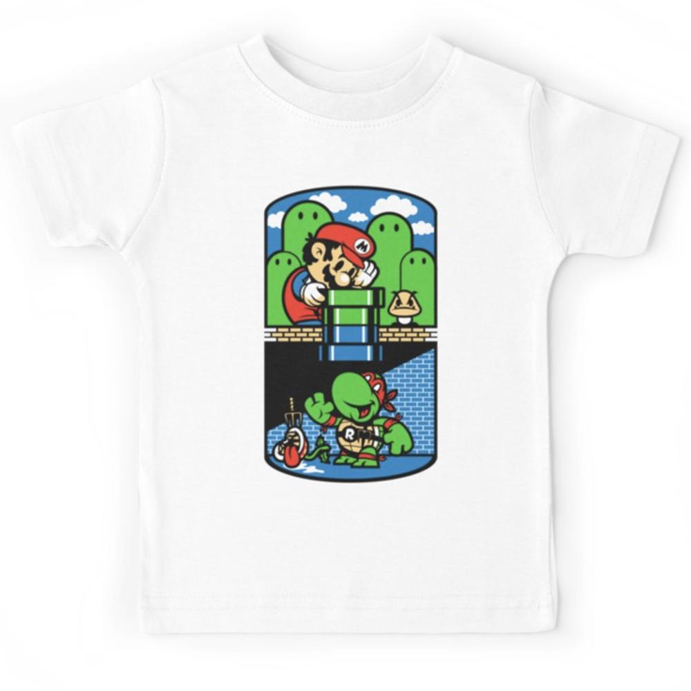 T-shirt enfant du 2 ans au 8 ans - IMG Mario bross jeux video