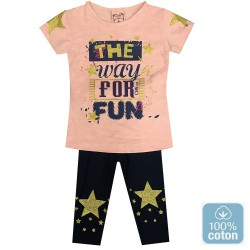 Ensemble fillette avec impriméthe way for fun 6 ans au 9 ans