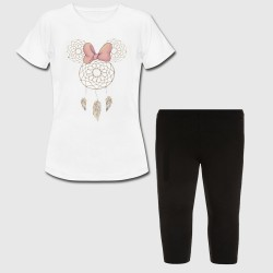 Ensemble Tshirt + legging court pour enfant - Minnie Mouse Dream Catcher
