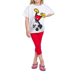 Ensemble Tshirt + legging court pour fille - Mickey