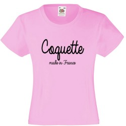 T-shirt fille - Coquete made in france