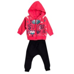 Set bébé fille sweatshirt zippé + pantalon - Gris