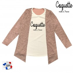 Top pour fille 2 en 1 gilet - Coquette made in france
