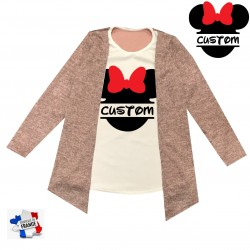 Top pour fille 2 en 1 gilet - Custom