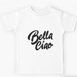 T-shirt enfant blanc - Bella ciao