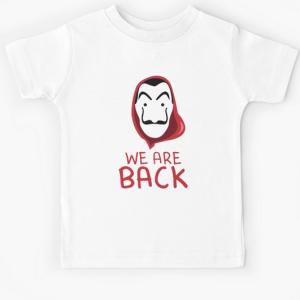 T-shirt enfant blanc - We are back