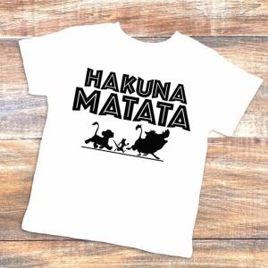 T-shirt enfant blanc - hakuna matata