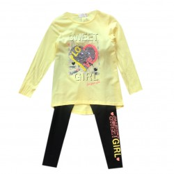 Set fille tshirt ML et legging imprimé