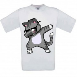 T-shirt blanc enfant - Chat DAB