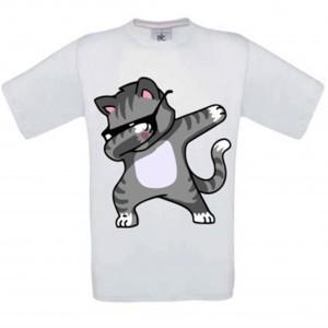 vente en gros T-shirt blanc enfant - Chat DAB