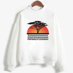 Sweatshirt enfant en moleton 80% coton blanc - Hakuna matata - modele 2