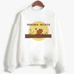 Sweatshirt enfant en moleton 80% coton blanc - Hakuna matata - modele 3