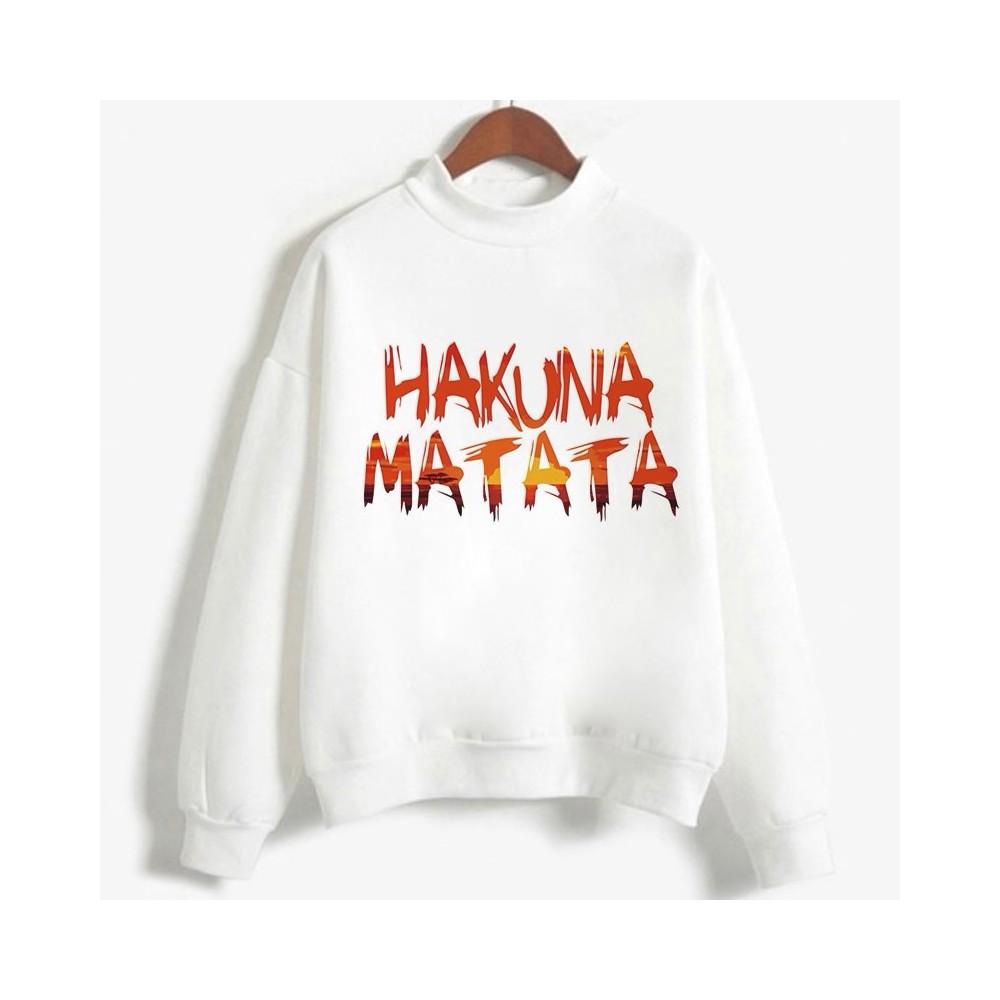 Sweatshirt enfant en moleton 80% coton blanc - Hakuna matata - modele 4