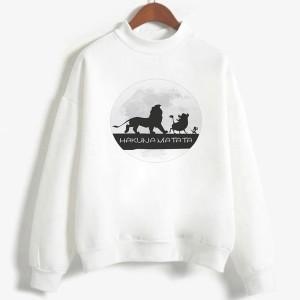 Sweatshirt enfant en moleton 80% coton blanc - Hakuna matata - modele 5