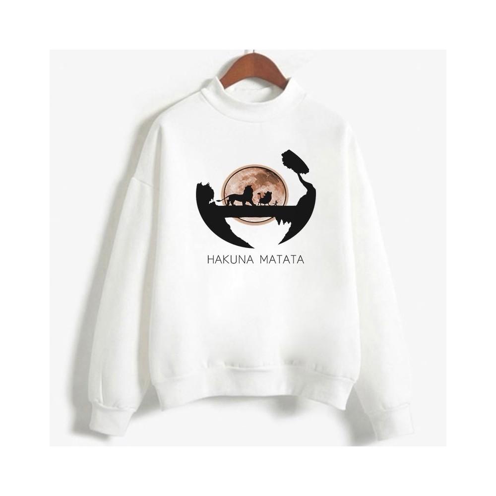 Sweatshirt enfant en moleton 80% coton blanc - Hakuna matata - modele 6