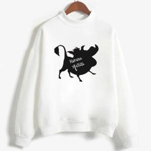 Sweatshirt enfant en moleton 80% coton blanc - Hakuna matata - modele 7