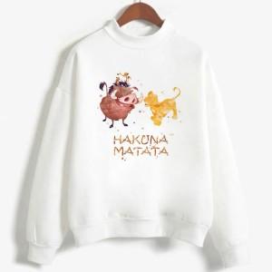 Sweatshirt enfant en moleton 80% coton blanc - Hakuna matata - modele 8
