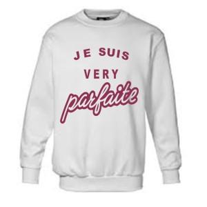 Sweatshirt pour fille avec écriture Je suis very parfaite