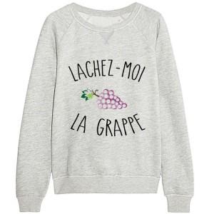 Sweatshirt enfant gris - Lâchez moi la grappe