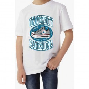 T-shirt garçon manches courtes - University Bercelona