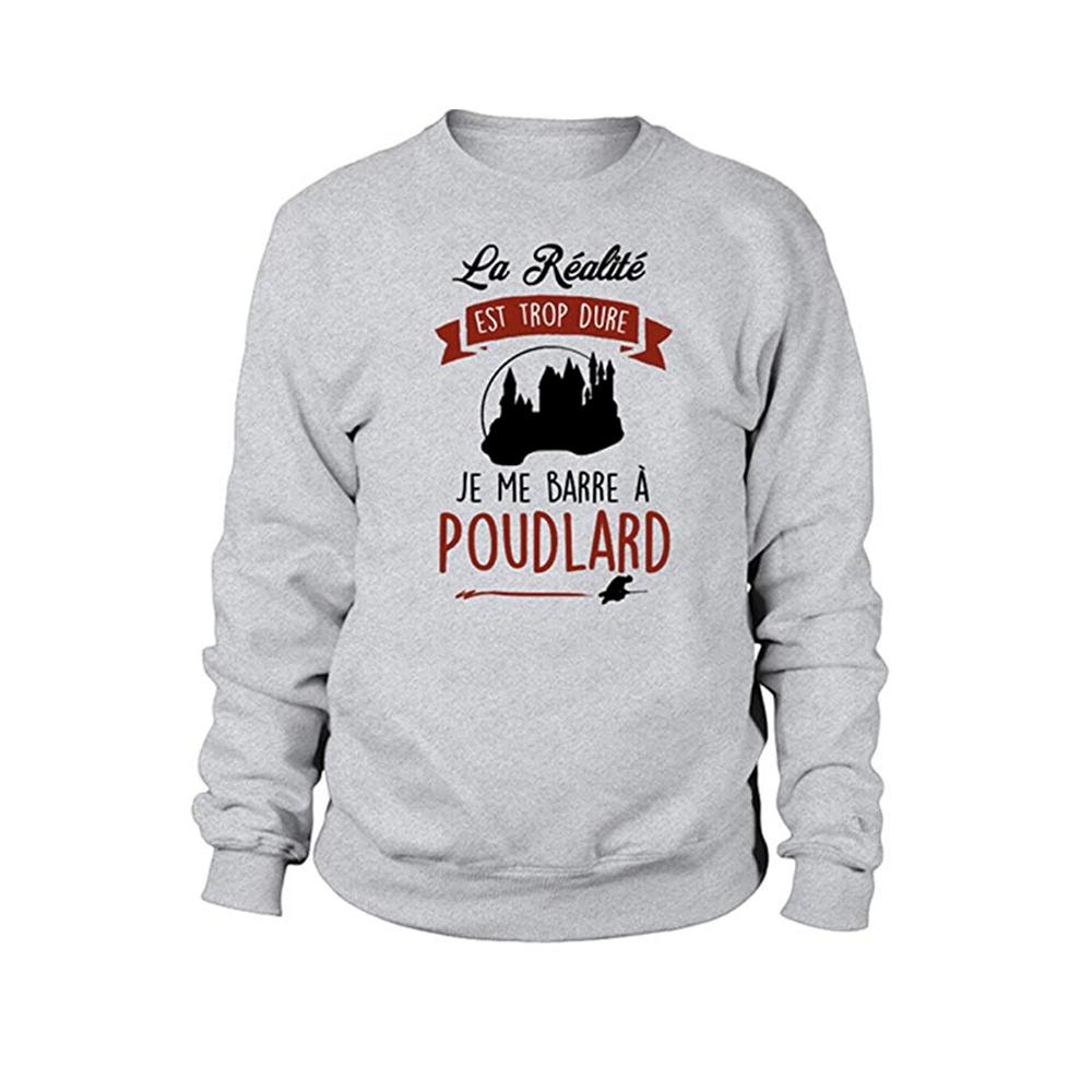 Sweatshirt enfant - la realité est trop dur je me barre a poudlard