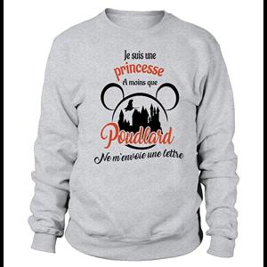 Sweatshirt enfant - Je suis une princesse a moins que poudlard ....