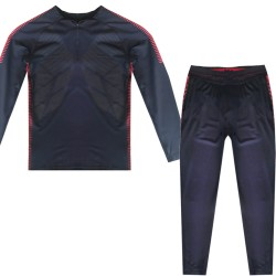 Ensemble sport enfant matiere anti transpi style football - Marine/rouge