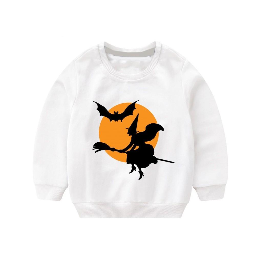 Sweatshirt pour enfant speciale halloween blanc - modele 1