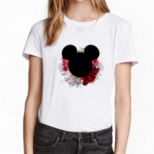 White serie series - Tshirt fille du 4 ans au 12 ans - Tete de mickey modele 1