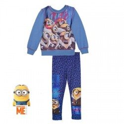 MINIONS - ENSEMBE SWEAT ET LEGGING - BLEUE