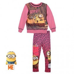MINIONS - ENSEMBE SWEAT ET LEGGING - ROSE