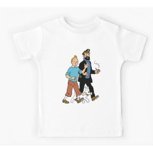Tshirt 100% coton - Tintin et captain haddock