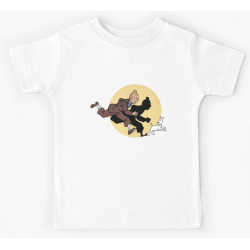 Tshirt 100% coton - Tintin on the run