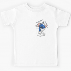 Tshirt 100% coton - Poche imprimé