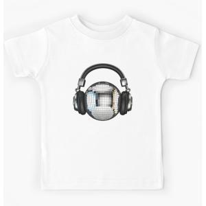 Tshirt 100% coton - Boule disco pour casque