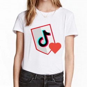 Tshirt fille 100% coton du 4 ans au 12 ans - TIKTOK LOVE