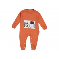 Combi layette imprimé BIG BOSS - Orange